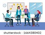 group of young business men and ... | Shutterstock .eps vector #1664380402