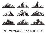 vintage monochrome mountain... | Shutterstock . vector #1664381185
