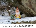 Ugly Garden Gnome In The Snow