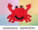 Crab Mosaic Decoration Made Of...