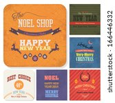 christmas badge  tags  labels ... | Shutterstock .eps vector #166446332
