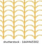 hand drawn watercolor seamless... | Shutterstock . vector #1664465302
