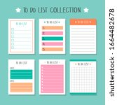 set of to do list paper notes ...   Shutterstock .eps vector #1664482678