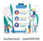 resume review rating. vector... | Shutterstock .eps vector #1664498785