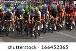 paris  jul 24  the peloton... | Shutterstock . vector #166452365