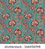 seamless floral pattern | Shutterstock .eps vector #166456598
