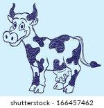 cute cow sketch | Shutterstock .eps vector #166457462