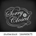 closed vintage retro signs ... | Shutterstock .eps vector #166460675