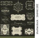 calligraphic design elements | Shutterstock .eps vector #166461182