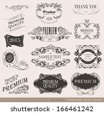 calligraphic design elements... | Shutterstock .eps vector #166461242
