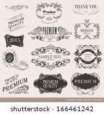 calligraphic design elements... | Shutterstock .eps vector #166461242