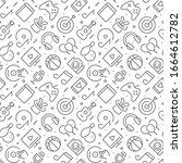 entertainment related seamless...   Shutterstock .eps vector #1664612782