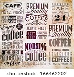 retro coffee  labels and... | Shutterstock .eps vector #166462202