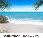 Beautiful Beach. View Of Nice...