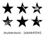 vector grunge set of six... | Shutterstock .eps vector #1664645542