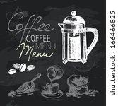 Coffee Hand Drawn Chalkboard...