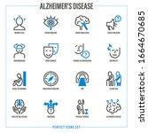 alzheimer's disease symptoms.... | Shutterstock .eps vector #1664670685