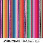 blanket stripes seamless vector ... | Shutterstock .eps vector #1664673418