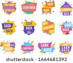 money cash back vector labels... | Shutterstock .eps vector #1664681392