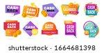 money cash back vector labels... | Shutterstock .eps vector #1664681398