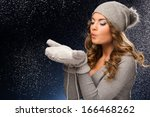 Girl In Winter Clothes During ...