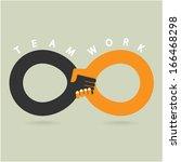 handshake abstract sign vector... | Shutterstock .eps vector #166468298