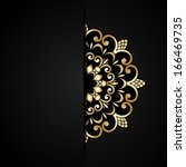 vintage gold ornament and place ... | Shutterstock . vector #166469735