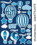 Set Of Stickers For Boy. Clouds ...