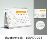 happy new year 2014 desk... | Shutterstock . vector #166477025