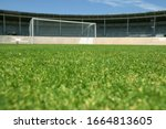 Small photo of View of an empty soccer field