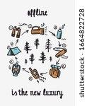offline is the new luxury  ... | Shutterstock .eps vector #1664822728