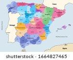 spain autonomous communities...   Shutterstock .eps vector #1664827465