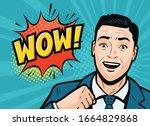successful businessman is... | Shutterstock .eps vector #1664829868