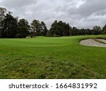 Green On Golf Course With Bunker