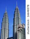 petronas twin towers over blue... | Shutterstock . vector #16648378