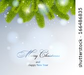 christmas background. christmas ... | Shutterstock .eps vector #166486835