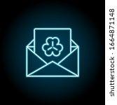 envelope  letter  trefoil neon...