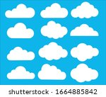 clouds vector set. different... | Shutterstock .eps vector #1664885842