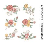 floral design elements | Shutterstock .eps vector #166490375