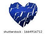 dark blue vector love...   Shutterstock .eps vector #1664916712
