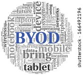 byod   bring your own device... | Shutterstock . vector #166492196
