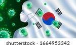 3d llustration of south korea's ...   Shutterstock . vector #1664953342