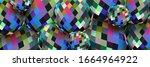 3d Spheres Motley Pixel Patter...