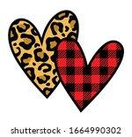 vector illustration of two...   Shutterstock .eps vector #1664990302