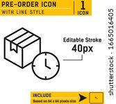 pre order icon vector...
