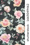seamless pattern with spring...   Shutterstock . vector #1665049462
