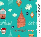 vector istanbul city pattern.  | Shutterstock .eps vector #166506545
