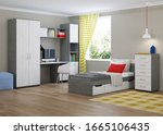 Cozy Stylish Bedroom Designed...