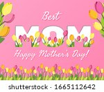 happy mothers day. best mom... | Shutterstock .eps vector #1665112642