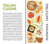 italian cuisine banner template ... | Shutterstock .eps vector #1665117862